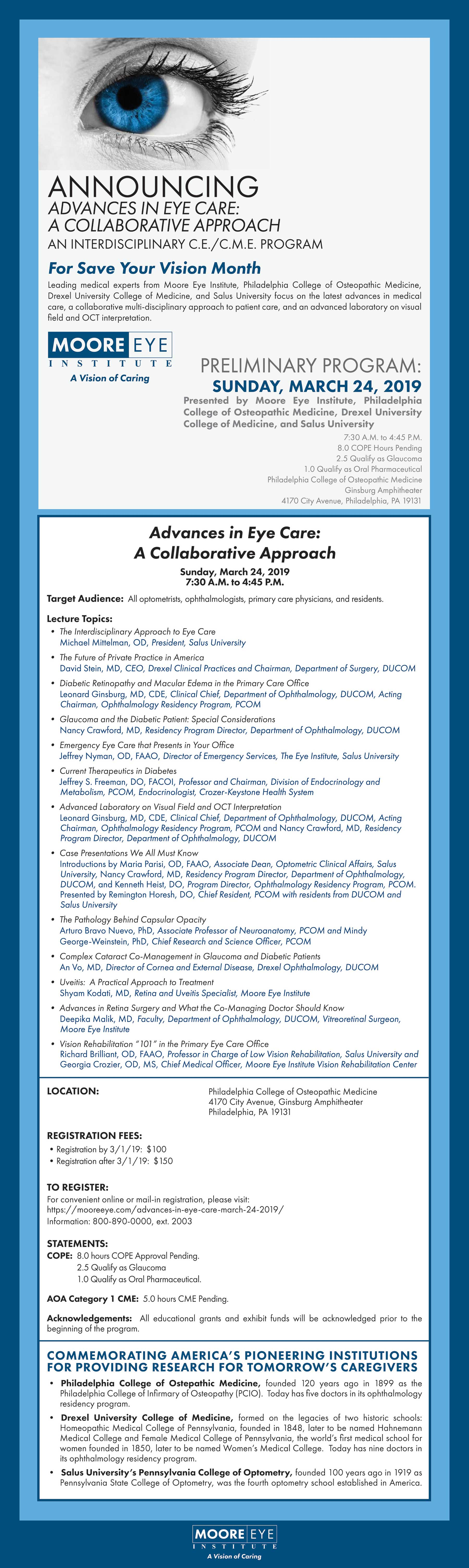 Advances in Eye Care: A Collaborative Approach