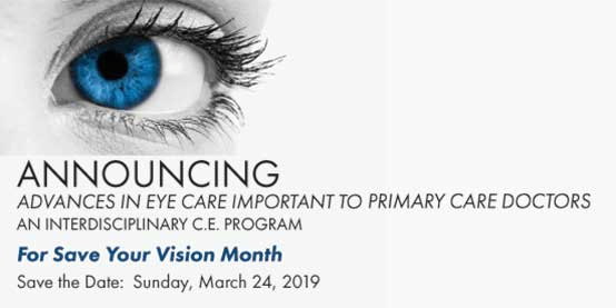 save the date for advances in eye care
