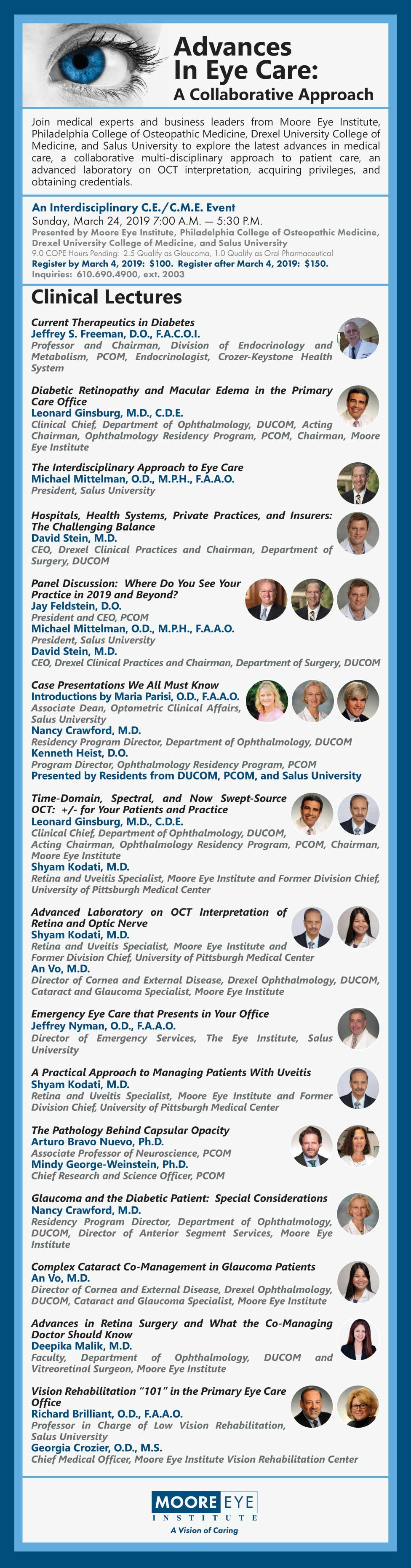 Program Lineup for Advances in Eye Care